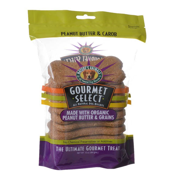 Natures Animals Gourmet Select Organic Dog Bone - Peanut Butter Flavor (608)