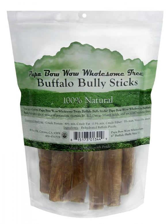 Papa Bow Wow Buffalo Bully Sticks - 6