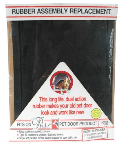 Pride Pet Doors Rubber Assembly Replacement Pet Door Flap (LD 500A)