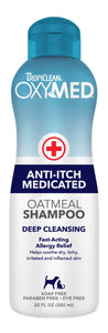 Tropiclean Oxymed Anti-Itch Medicated Shampoo for Dog & Cat 20 Oz