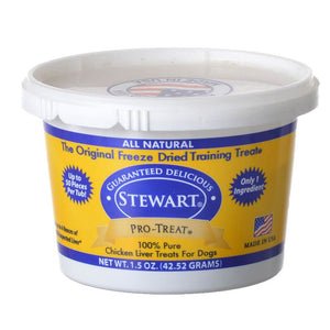Stewart Pro-Treat 100% Freeze Dried Chicken Liver for Dogs (401702)