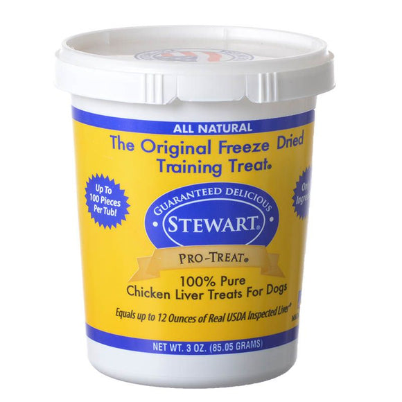 Stewart Pro-Treat 100% Freeze Dried Chicken Liver for Dogs (401704)