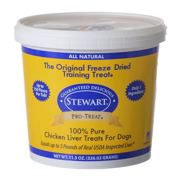 Stewart Pro-Treat 100% Freeze Dried Chicken Liver for Dogs (401714)