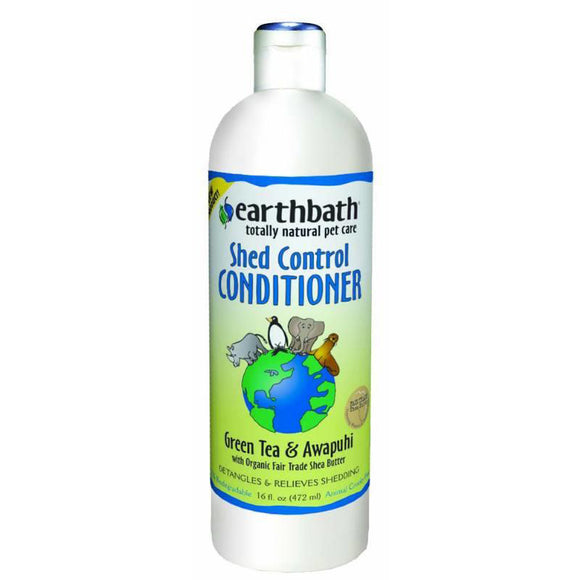 Earthbath Green Tea & Awapuhi Shed Control Conditioner for Cat & Dog 16 Oz