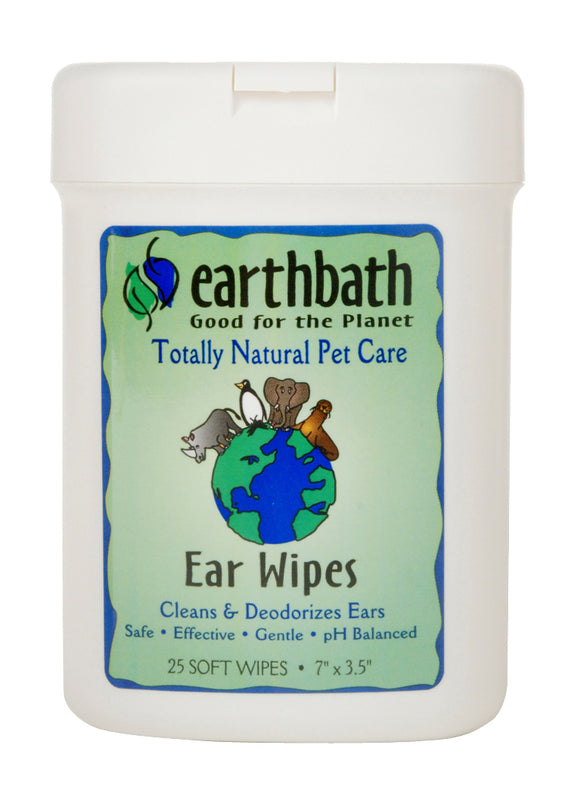 Earthbath Ear Wipes for Cat & Dog 25 Count