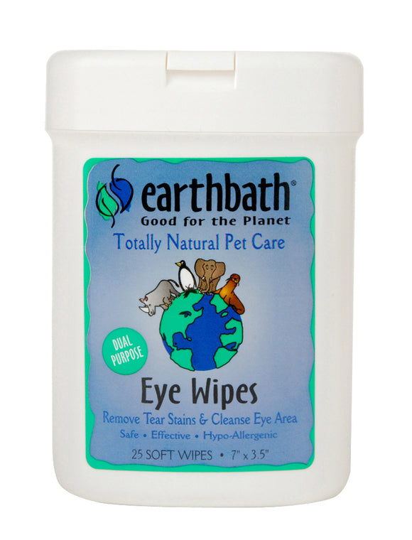 Earthbath Eye Wipes for Cat & Dog 25 Count
