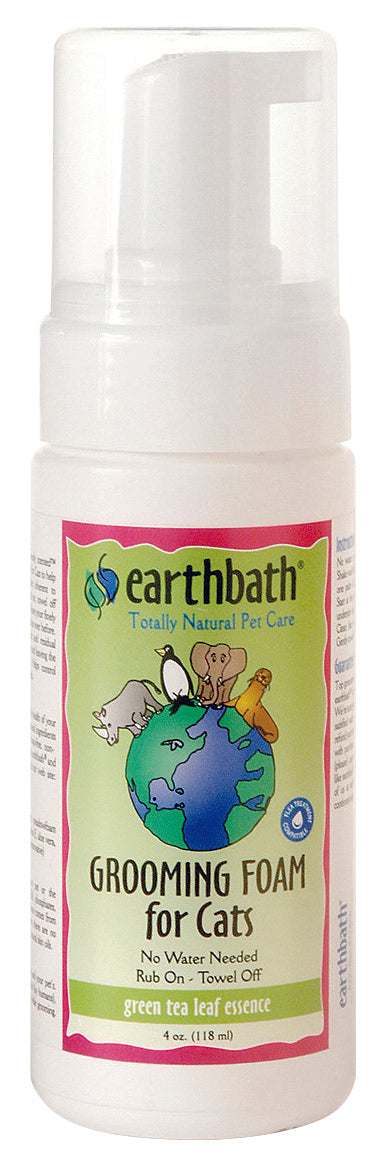 Earthbath Green Tea & Awapuhi Grooming Foam for Cat 4 Oz