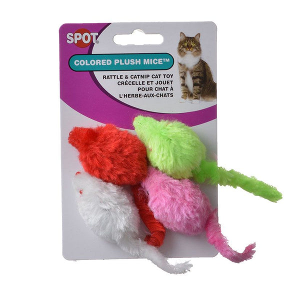Spot Colored Plush Mice Cat Toys (2024)