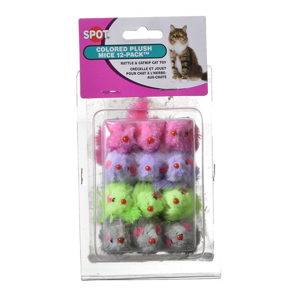 Spot Colored Fur Mice Cat Toys (2048)