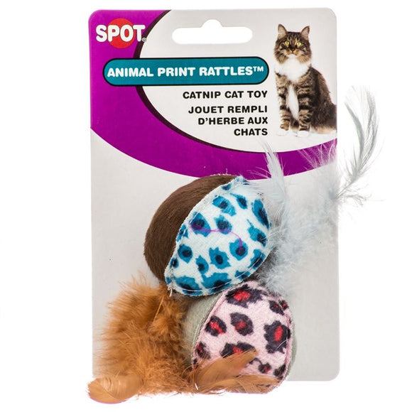 Spot Spotnips Rattle with Catnip - Animal Print (2658)