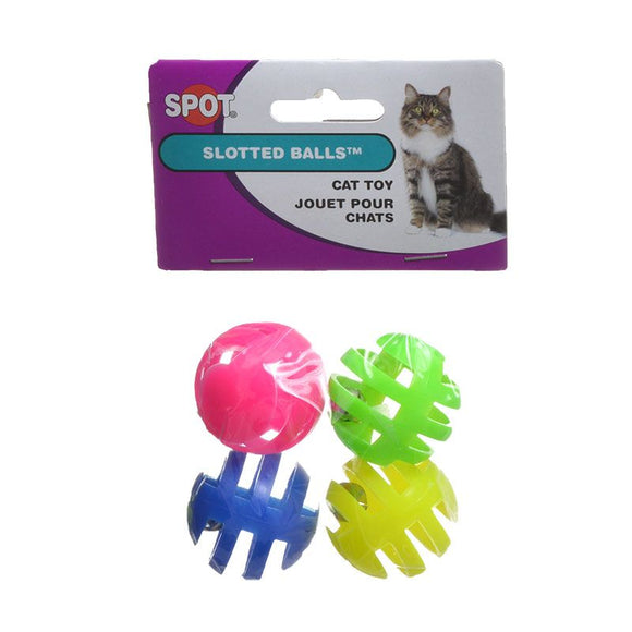 Spot Slotted Balls with Bells Inside Cat Toys (2848)