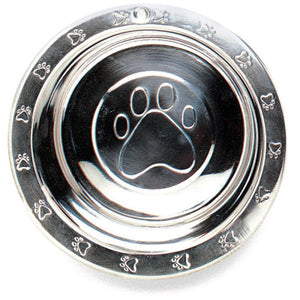 Spot Stainless Steel Embossed Rim Pet Dish (6241)