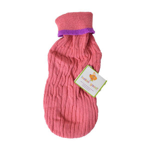 Fashion Pet Cable Knit Dog Sweater - Pink (8PKSM)