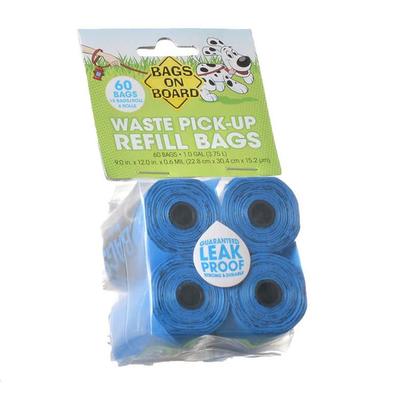 Bags on Board Waste Pick Up Refill Bags - Blue (906B 3203910200)