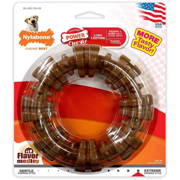 Nylabone Dura Chew Textured Ring - Flavor Medley (NCF315P)