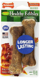 Nylabone Healthy Edibles Wholesome Dog Chews - Bacon Flavor (NEB101TPP)