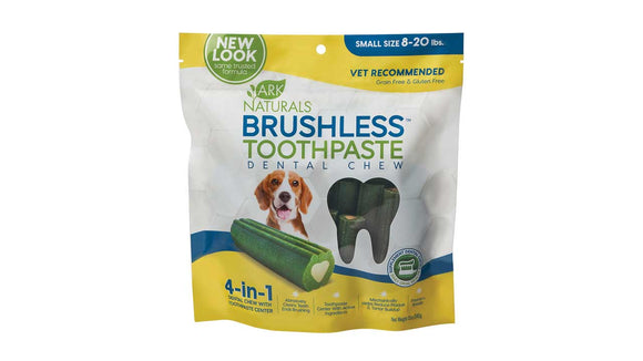 Ark Naturals Brushless Toothpaste Dental Chew for Dog Small X 12 Oz