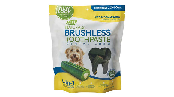 Ark Naturals Brushless Toothpaste Dental Chew for Dog Medium X 18 Oz