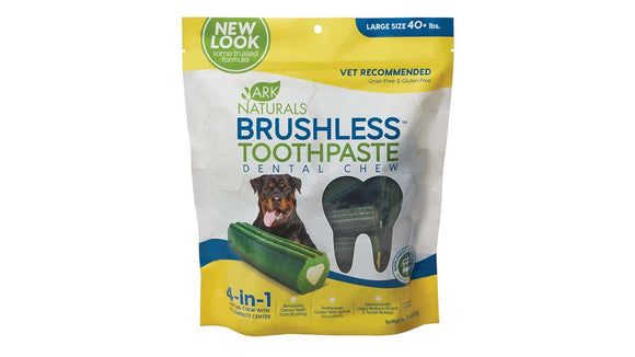 Ark Naturals Brushless Toothpaste Dental Chew for Dog Large X 18 Oz