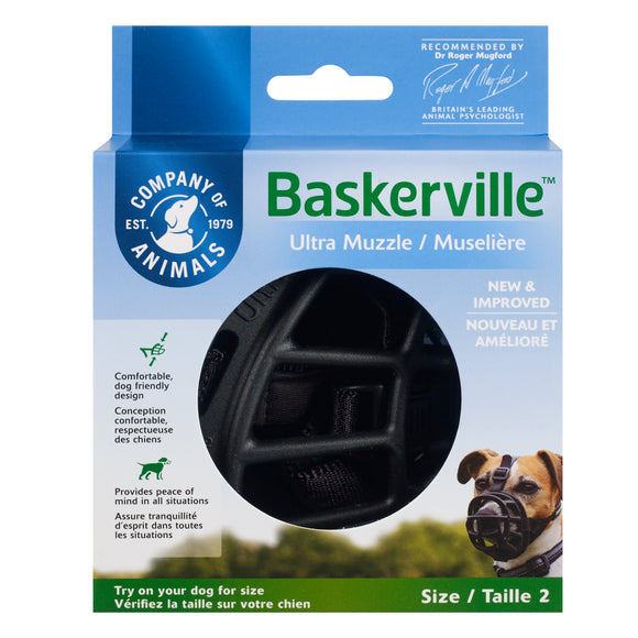 The Company of Animals Baskerville Ultra Muzzle for Dog Size 2