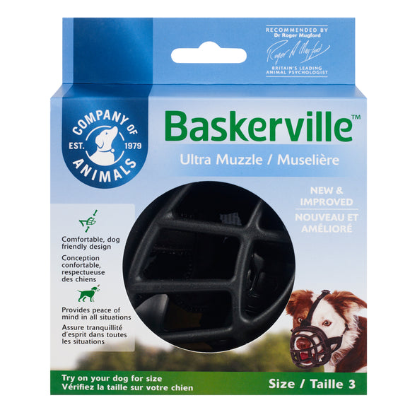 The Company of Animals Baskerville Ultra Muzzle for Dog Size 3
