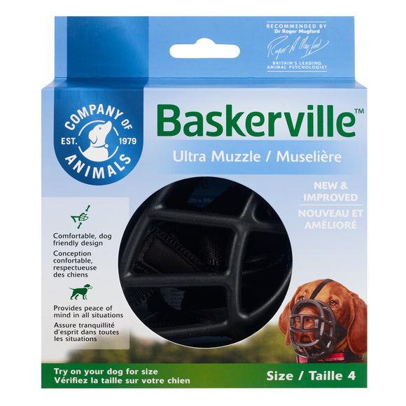 The Company of Animals Baskerville Ultra Muzzle for Dog Size 4