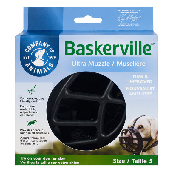 The Company of Animals Baskerville Ultra Muzzle for Dog Size 5