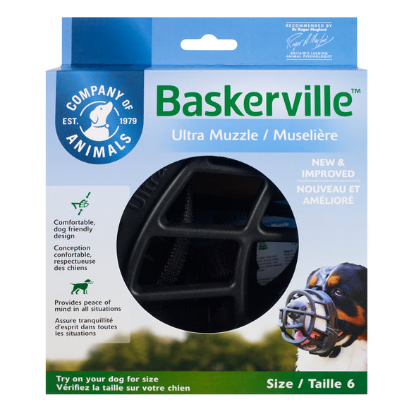 The Company of Animals Baskerville Ultra Muzzle for Dog Size 6