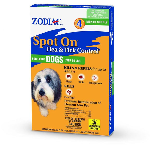Zodiac Spot on Flea & Tick Controller for Dogs (100504782)