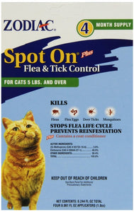 Zodiac Spot on Plus Flea & Tick Control for Cats & Kittens (100505298)