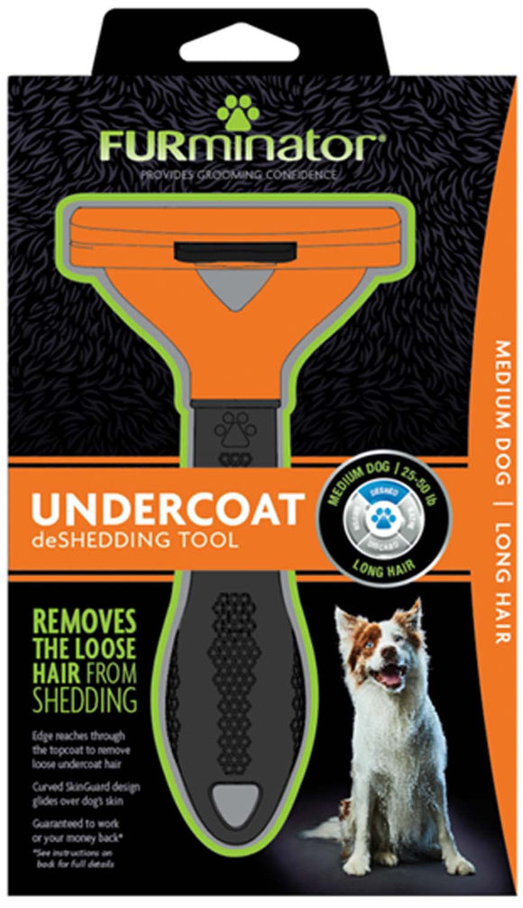 Furminator Undercoat Deshedding Tool for Medium Dog Long Hair