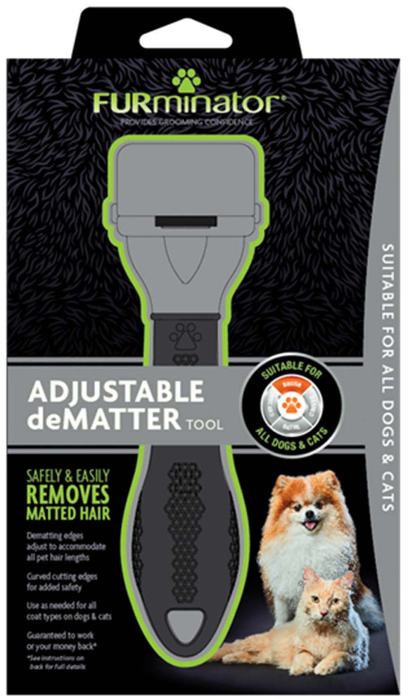 Furminator Adjustable Dematter Tool for Dog & Cat