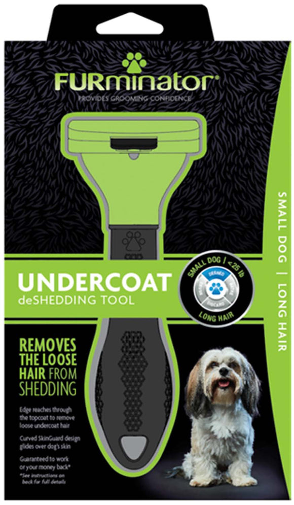 Furminator Undercoat Deshedding Tool for Small Dog Long Hair