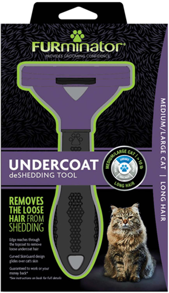 Furminator Undercoat Deshedding Tool Medium/Large Cat Long Hair