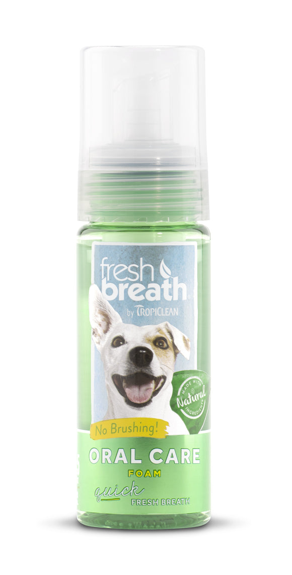Tropiclean Oral Care Foam for Pets 4.5 Oz