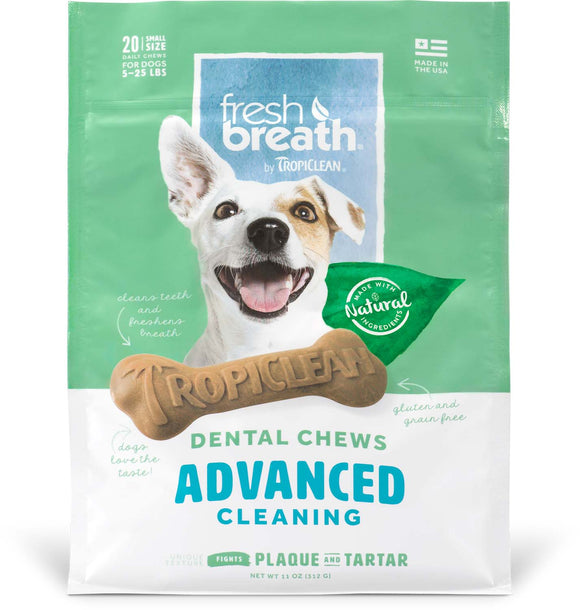 Tropiclean Advanced Cleaning Dental Chews for Dog Small