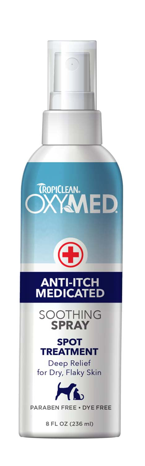 Tropiclean Oxymed Anti-Itch Medicated Spray for Dog & Cat 8 Oz