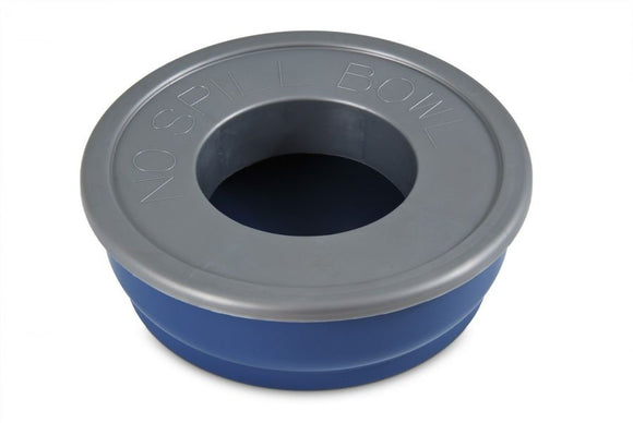 Petmate No-Spill Travel Bowl - Blue (23371)