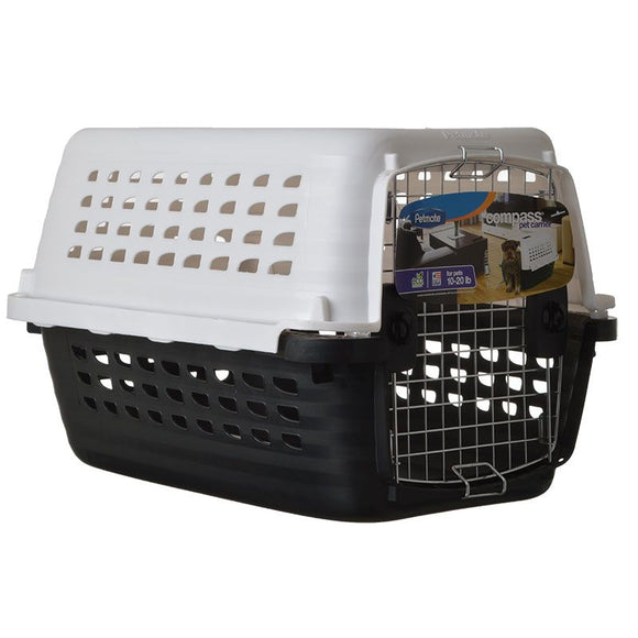 Petmate Compass Kennel - Black & Metalic White (41032)