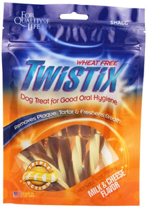 Twistix Wheat-Free Milk & Cheese Flavor Dental Dog Treats (801150)