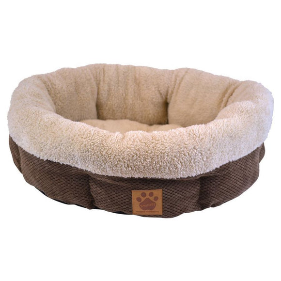 Precision Pet Natural Surroundings Shearling Dog Donut Bed - Coffee (7075617)