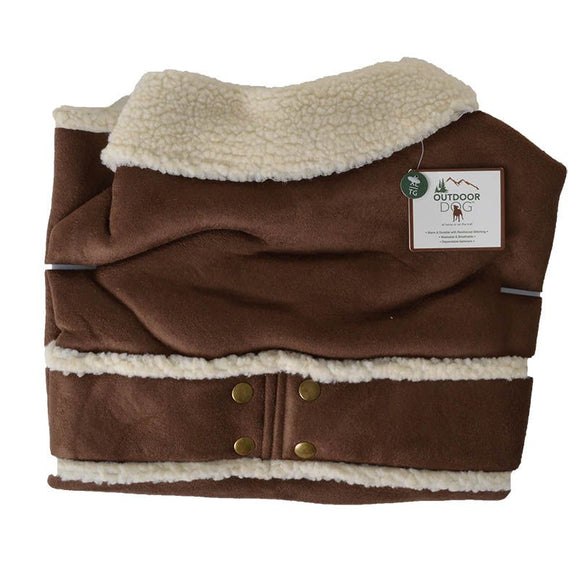 Fashion Pet Shearling Dog Blanket/Coat - Brown (751197)