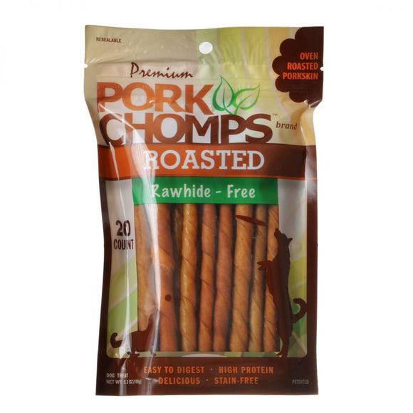 Pork Chomps Twistz Pork Chews - Roasted (DT174)