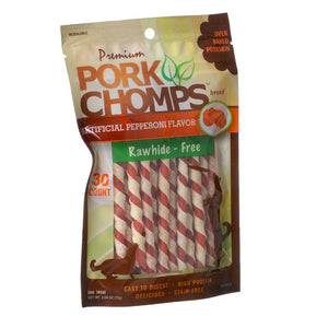 Pork Chomps Twistz Pork Chews - Pepperoni Flavor (DT303)