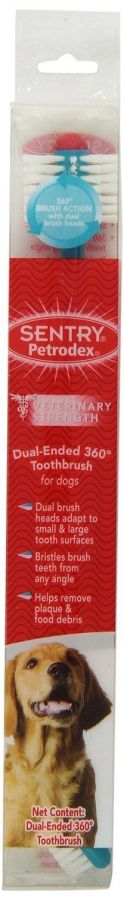 Petrodex Dual Ended 360 Degree Toothbrush for Dogs (51086)