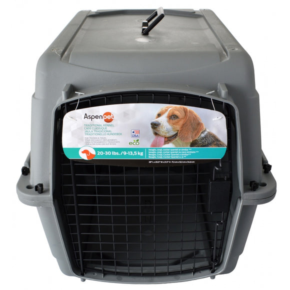 Aspen Pet Traditional Pet Kennel - Gray (41300)