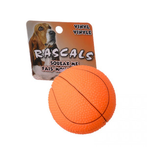 Rascals Vinyl Basketball for Dogs (82076 R ORGDOG)
