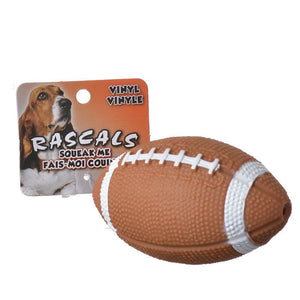 Rascals Vinyl Football Dog Toy (82077 R BRNDOG)