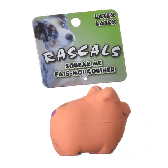 Rascals Latex Pig Dog Toy - Pink (83010 R PNKDOG)
