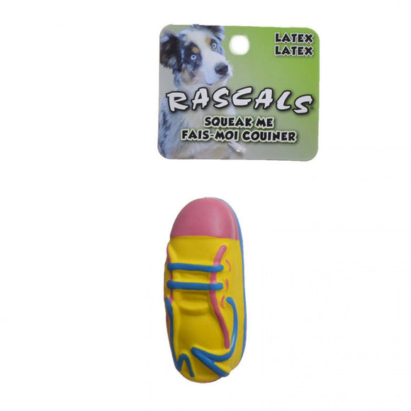 Rascals Latex Small Tennis Shoe Dog Toy (83024 R NCLDOG)